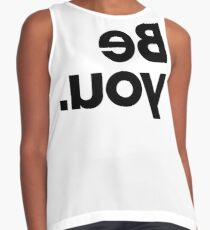 Be You - White Contrast Tank
