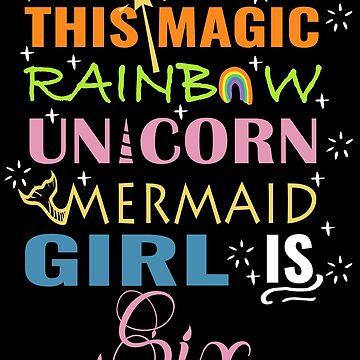 Mermaid Unicorn Birthday 6 Girl Shirt by NoriTEEs