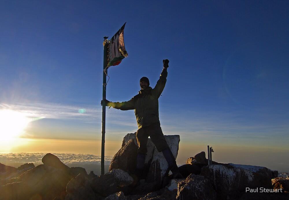 SUCCESS - Mt Kenya summit at sunrise, AFRICA. by Paul Stewart
