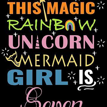 Mermaid Unicorn Birthday 7 Girl Shirt by NoriTEEs