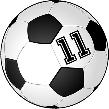 Football Player Jersey No 11 Soccer Player Back Number #11 Ball Sport Sticker Gift by theshirtinator