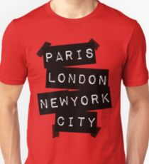 PARIS LONDON NEW YORK CITY T-Shirt