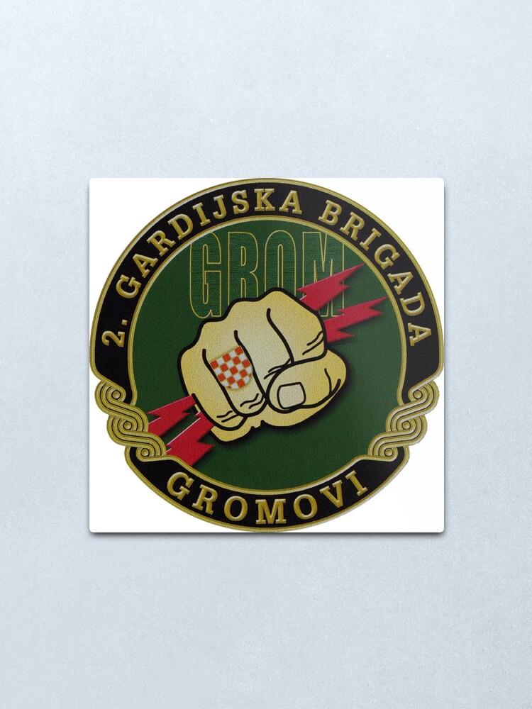 Alternate view of Croatia Army 2nd Guards Brigade GROM Metal Print
