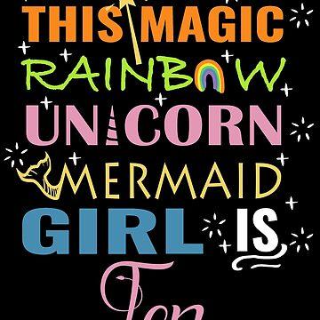 Mermaid Unicorn Birthday 10 Girl Shirt by NoriTEEs