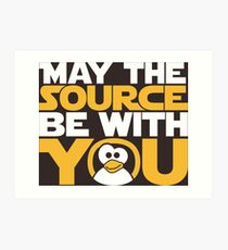 May The Source Be With You - Tux Edition Art Print