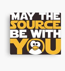 May The Source Be With You - Tux Edition Canvas Print