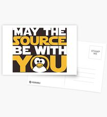 May The Source Be With You - Tux Edition Postcards