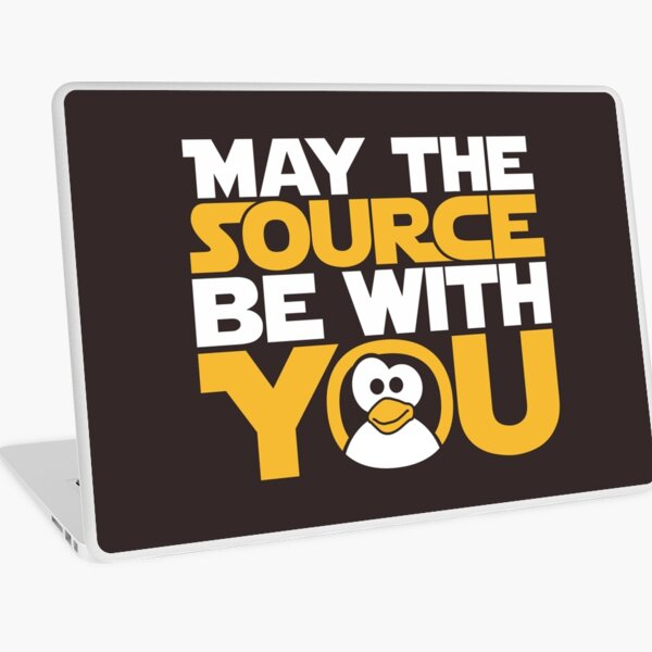 May The Source Be With You - Tux Edition Laptop Skin