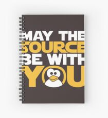 May The Source Be With You - Tux Edition Spiral Notebook