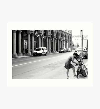 A Street in Conservative Torino Art Print