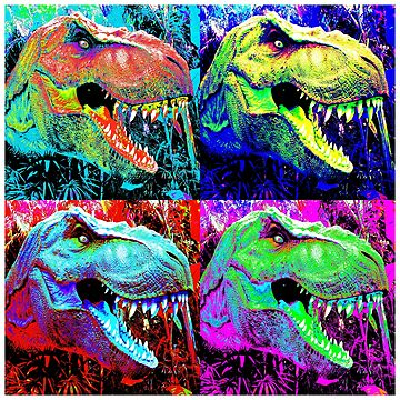 Dinosaur - Pop Art Design by Chunga
