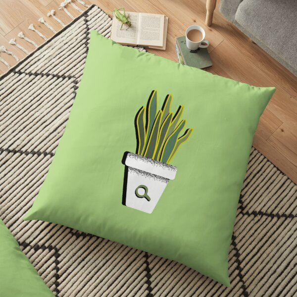 Shaky Plants [Sansevieria] Floor Pillow