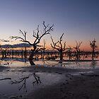 Lake Pamamaroo Sunset by Peter Hocking