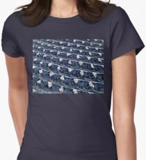 Blue pattern abstract Women's Fitted T-Shirt