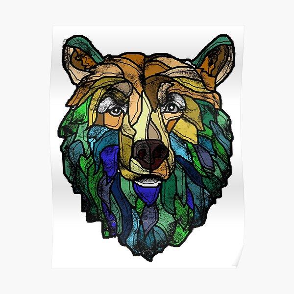 Blue Berry Bear Poster