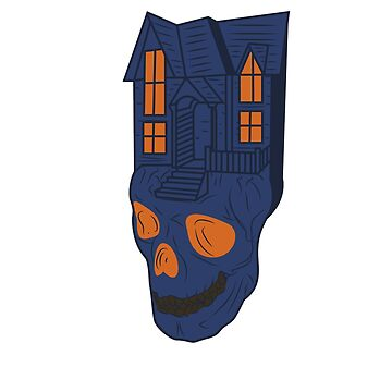 Halloween house villa haunted house ghosts gift idea head skull haunted by MyShirt24