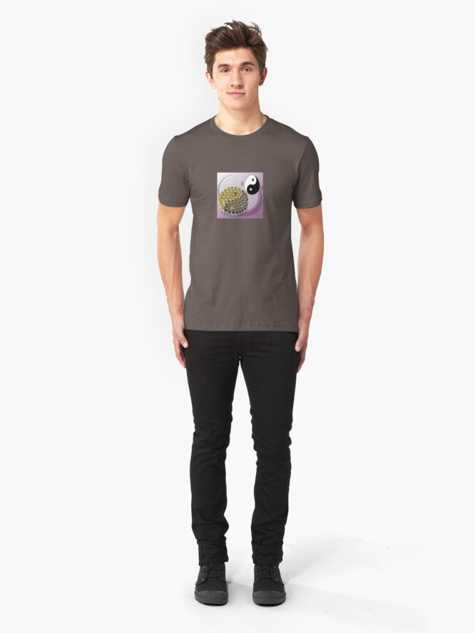 Alternate view of Two Scrambled Eggs - Yin-Yang Slim Fit T-Shirt