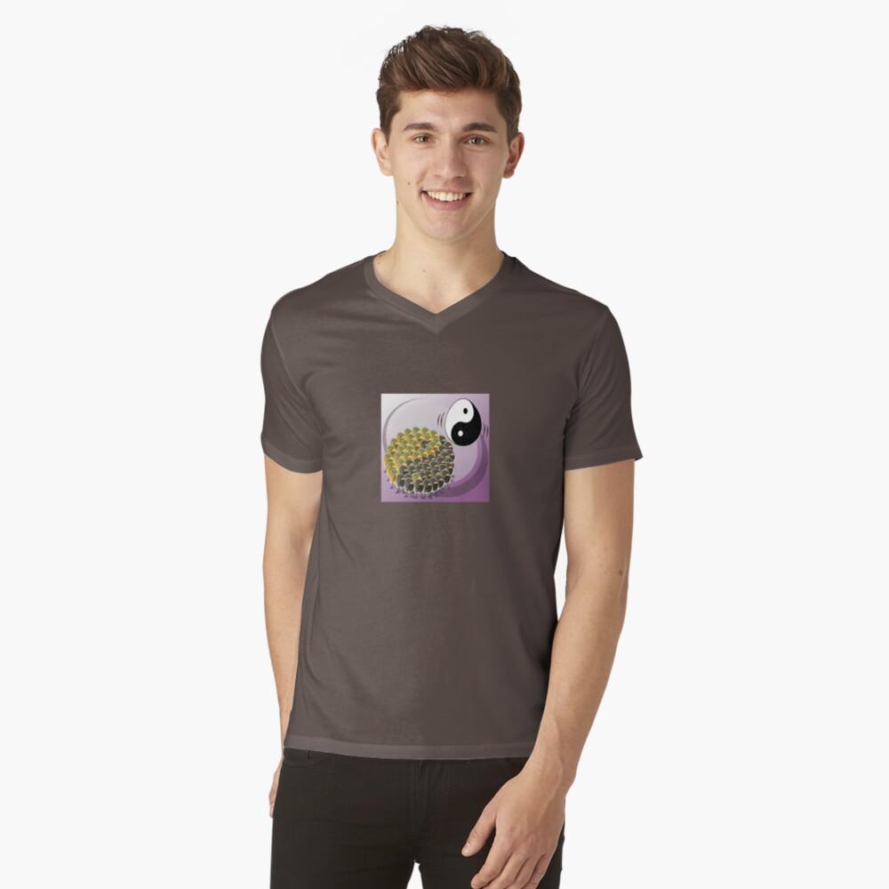Two Scrambled Eggs - Yin-Yang V-Neck T-Shirt