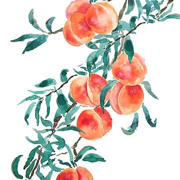 pink peach watercolor  by ColorandColor
