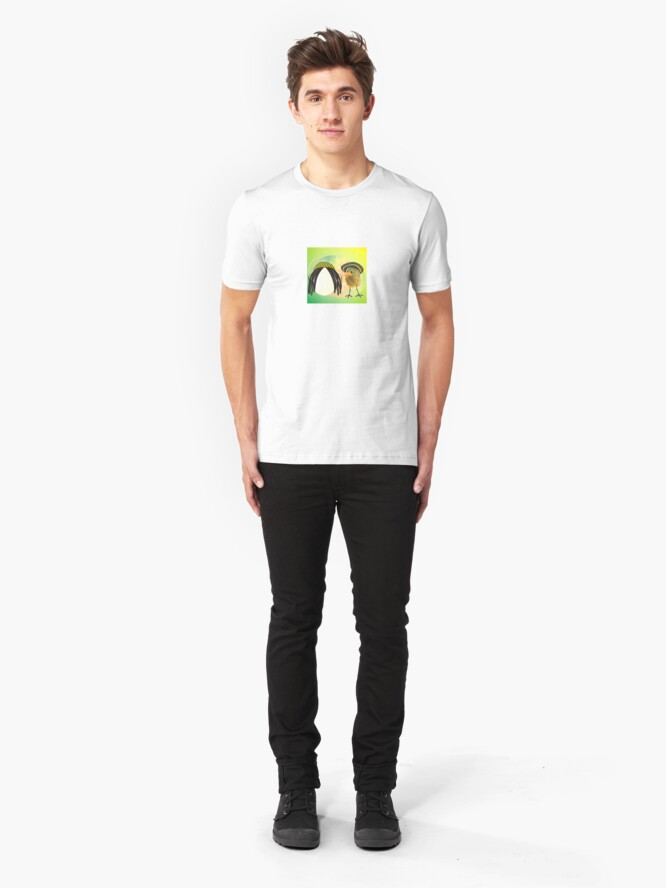 Alternate view of Two Scrambled Eggs - rEGGae Slim Fit T-Shirt