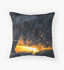 The Daily Grind - Colourised Throw Pillow