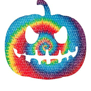 Tie Dyed Halloween Pumpkin by mashingTees