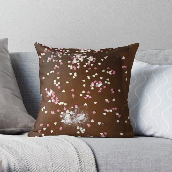 mocha chocolate square Throw Pillow
