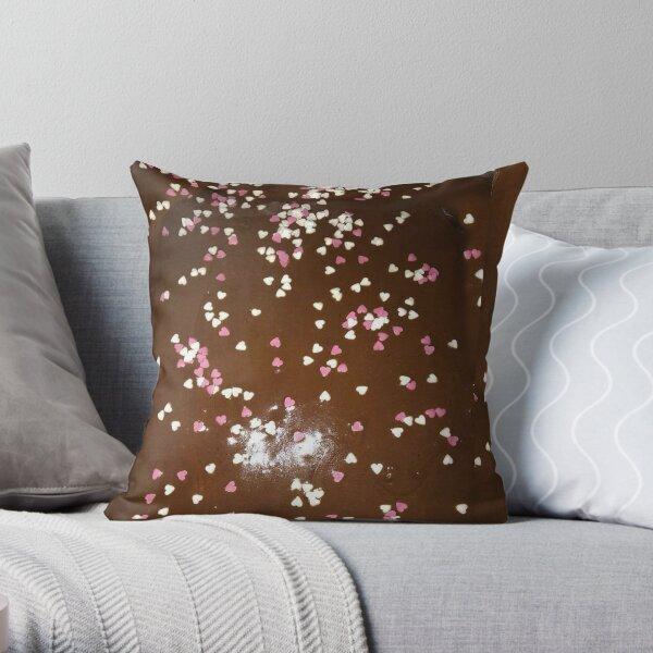 mocha chocolate square Throw Pillow