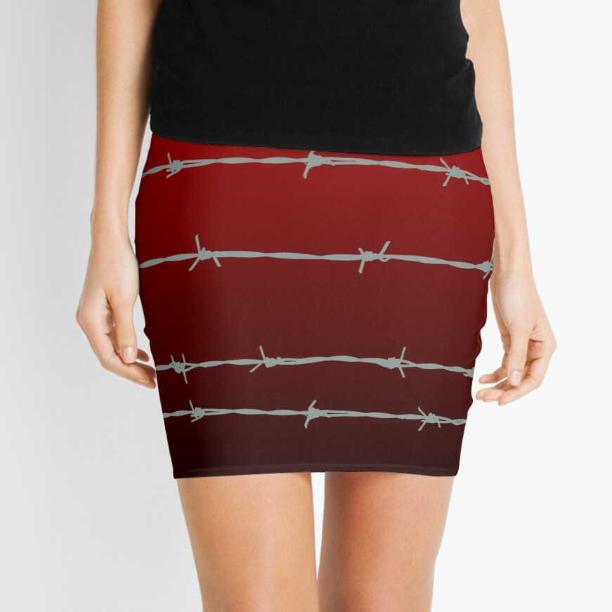 Ombre barb wire Mini Skirt