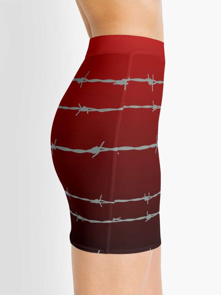 Alternate view of Ombre barb wire Mini Skirt