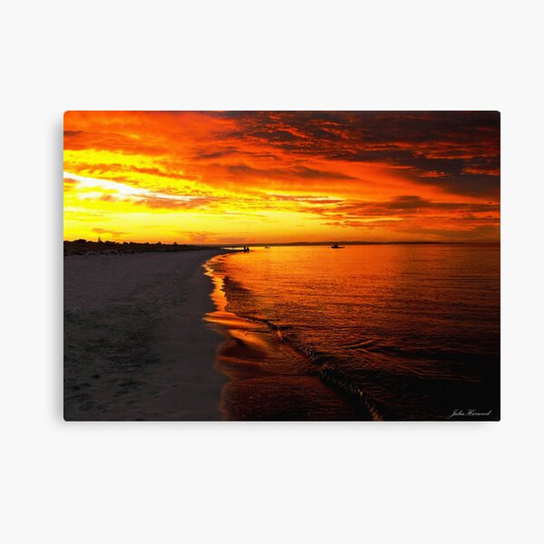 Sunset at Busselton Canvas Print