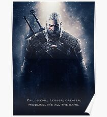 Witcher Wild Hunt - Geralt Poster