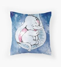 Dumbo and his mother, Mother and baby elephant Throw Pillow