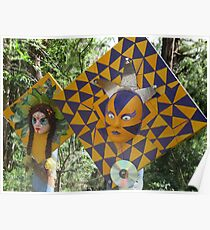 Mellow Yellow Scarecrows at Red Hill Poster