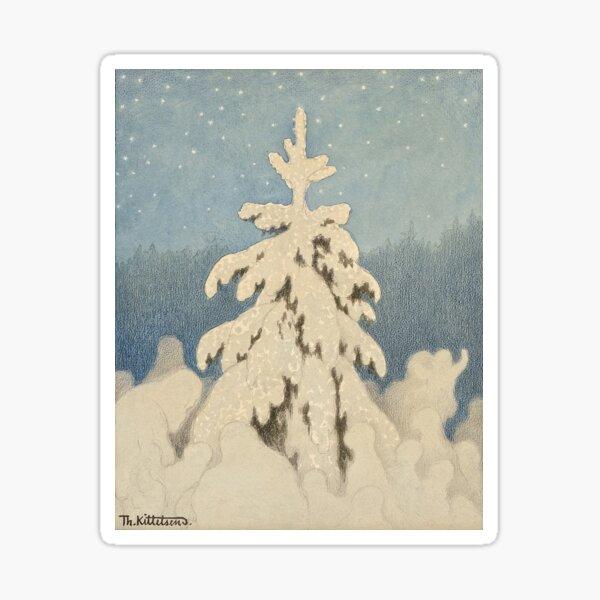 Juletreet (Kittelsen) Sticker