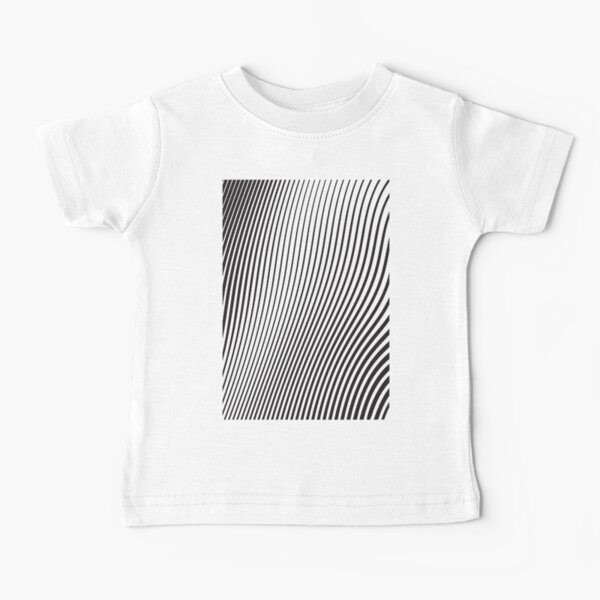WAVE (BLACK) Camiseta para bebés