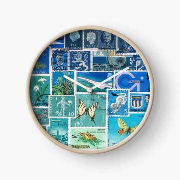 Blue Yonder - Postage Stamp Skyscape Clock