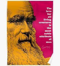 Póster Cita de Charles Darwin