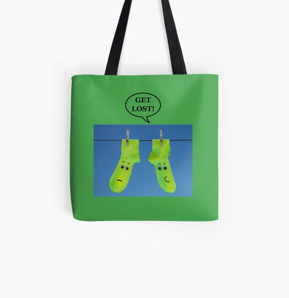 GET LOST! All Over Print Tote Bag