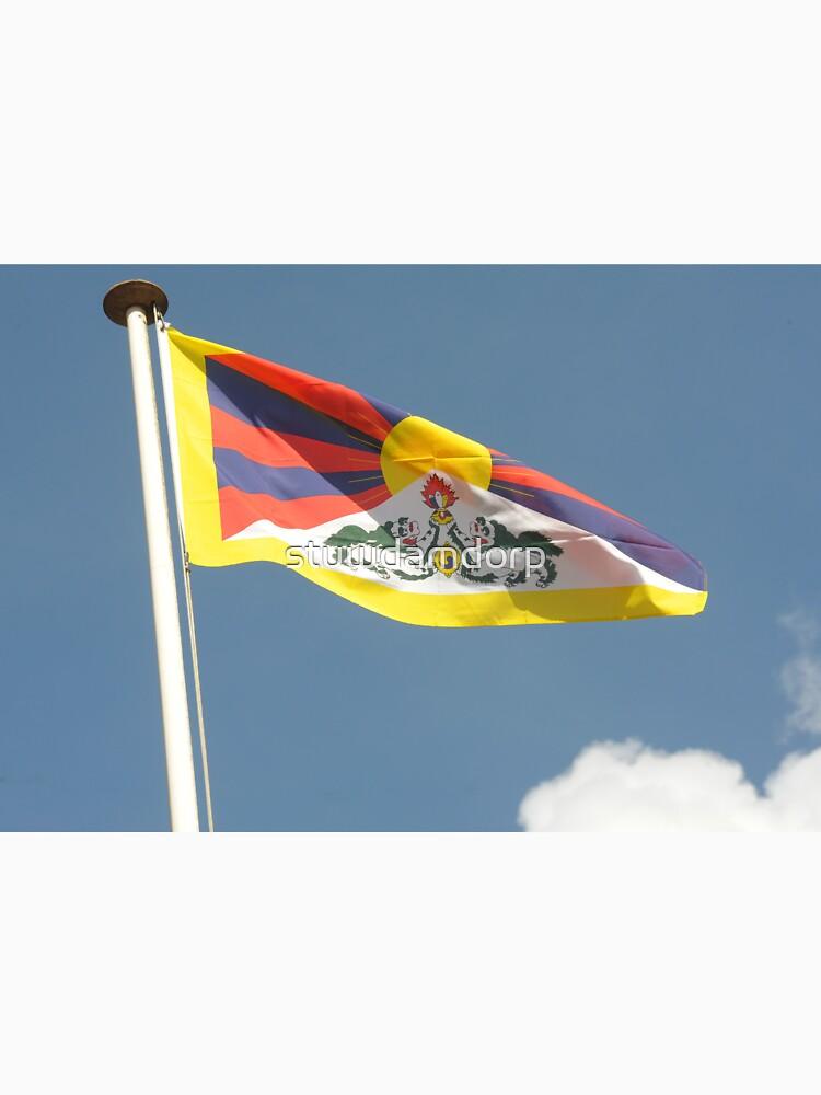 Tibettan flag flying by stuwdamdorp