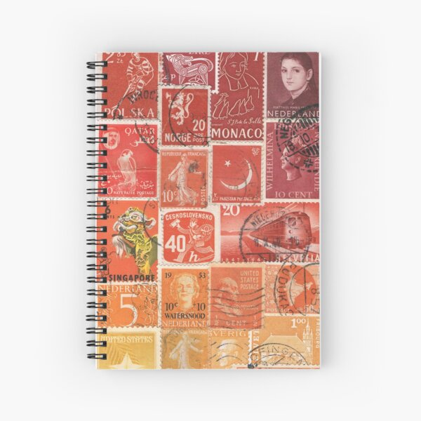 Fire Glow - Abstract Sunset Collage Spiral Notebook