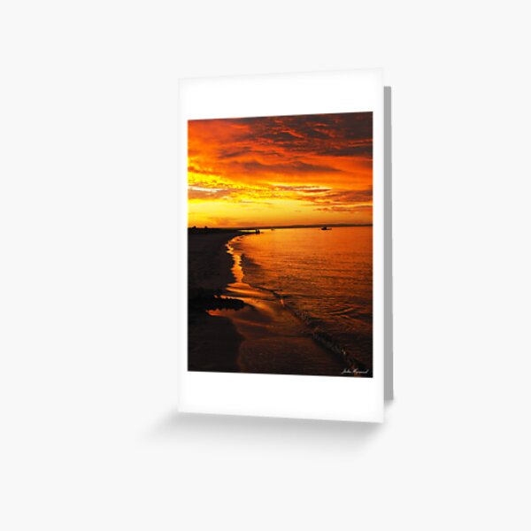 Firey Sky Greeting Card