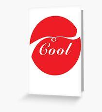 Coca Cola Cool Greeting Card