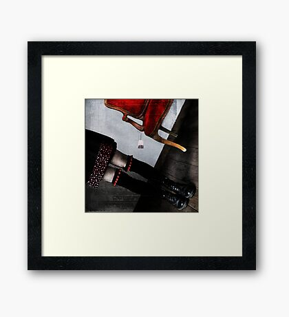 The other side of the apron Framed Print