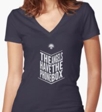 The Angels Have The Phone Box - Doctor Who Tribute Women's Fitted V-Neck T-Shirt