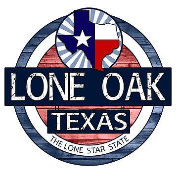 Lone Oak Texas rustic wood circle by artisticattitud