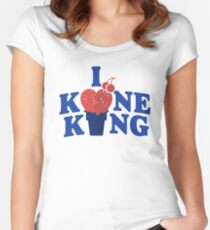 I Heart Kone King (Cake Cone Edition) Women's Fitted Scoop T-Shirt