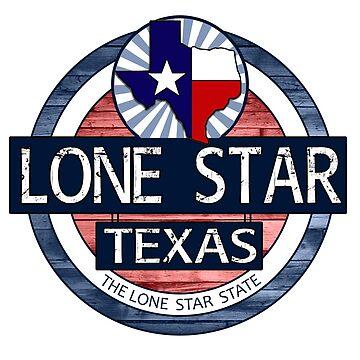 Lone Star Texas rustic wood circle by artisticattitud