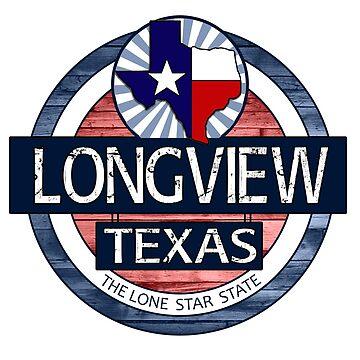 Longview Texas rustic wood circle by artisticattitud