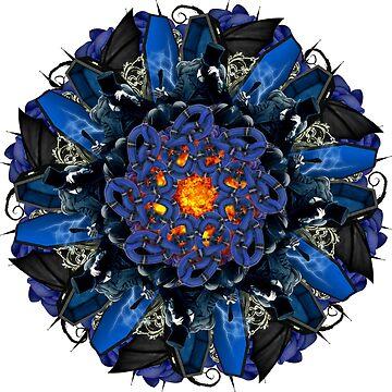 vampire dark blue mandala by burenkaUA